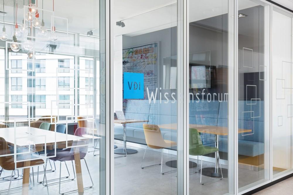 Das neue VDI Wissensforum als Activity-Based-Workingplace. Abbildung: VDI Wissensforum