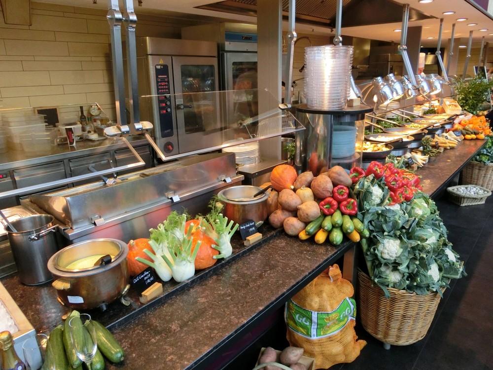 vegetarische und vegane Speisen