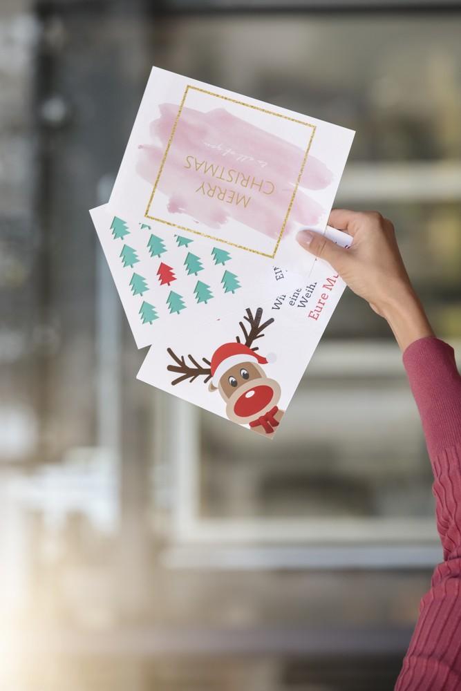 Weihnachtskarten selbst gestalten mit Avery Zweckform
