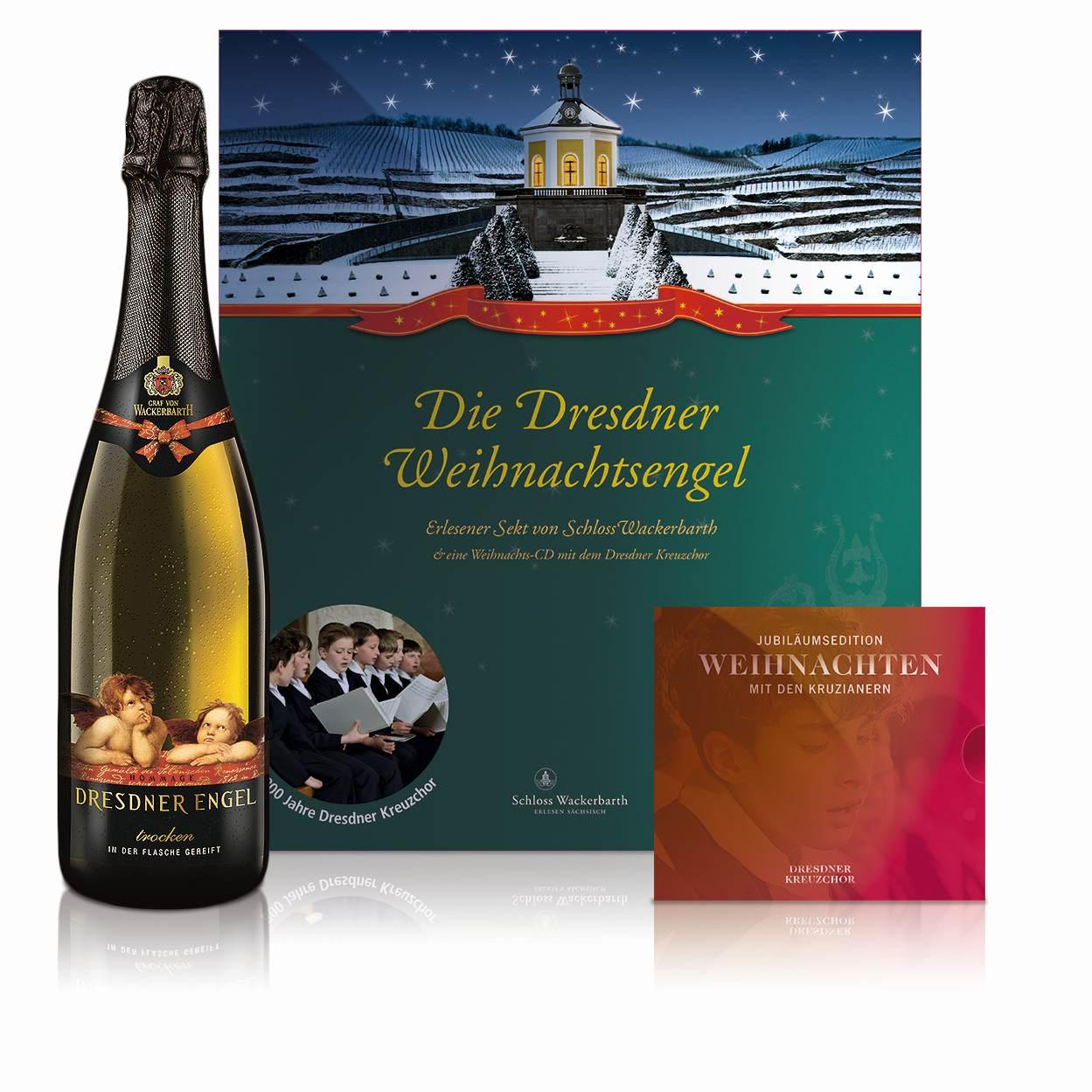 Präsent Dresdner Weihnachtsengel. Abbildung: Sächsisches Staatsweingut GmbH