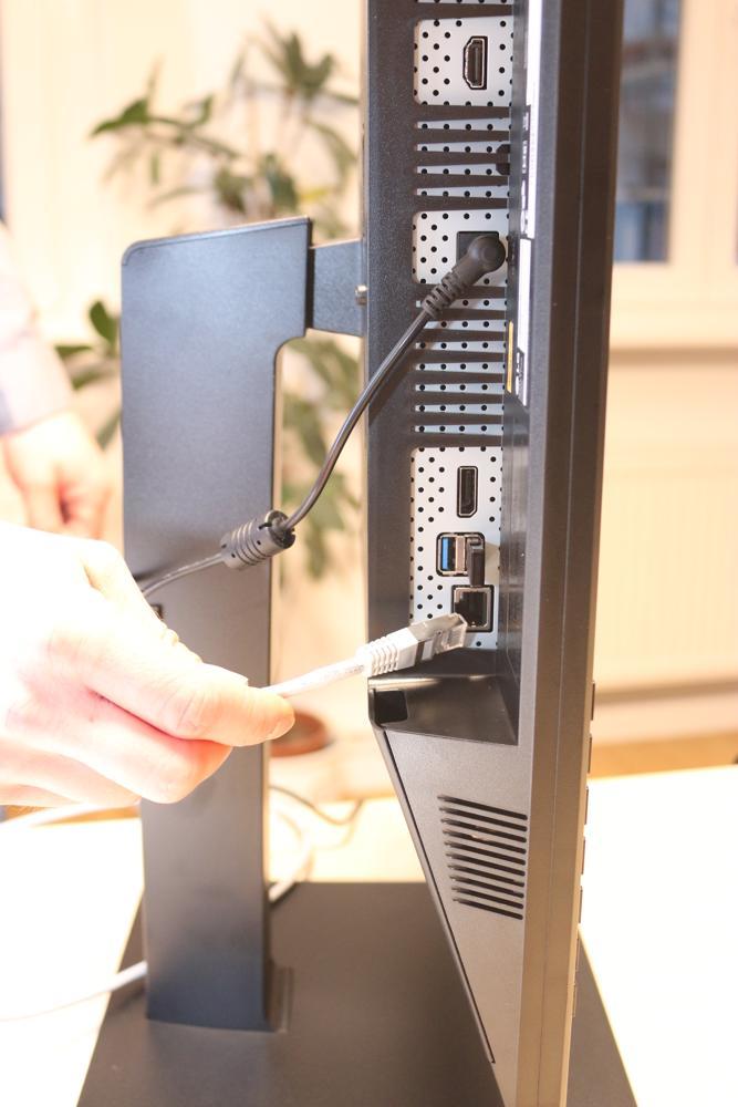 Hier gibt sich der Thin Client zu erkennen: RJ45-Anschluss für das Netzwerkkabel.