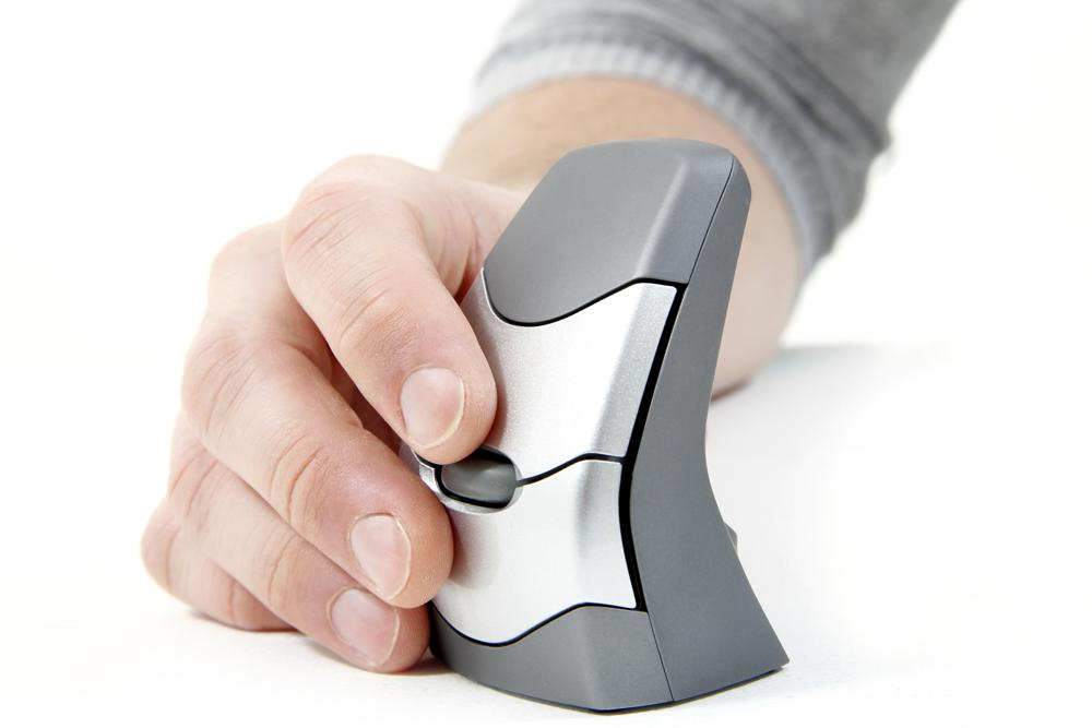 Die ergonomische Maus verbessert die Körperhaltung. Abbildung: BakkerElkhuizen