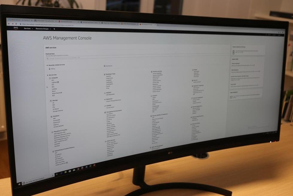 Blick in die Management-Konsole von AWS. Dort sind auch die WorkSpaces zu finden.