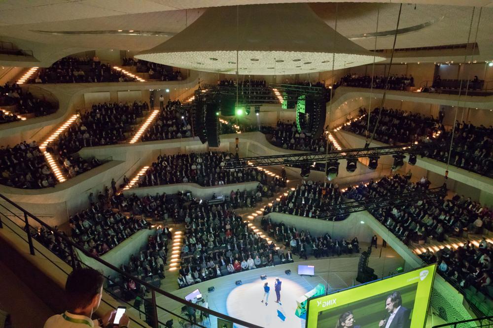 Ort des Geschehens: Der große Saal in der Elbphilharmonie. Abbildung: XING