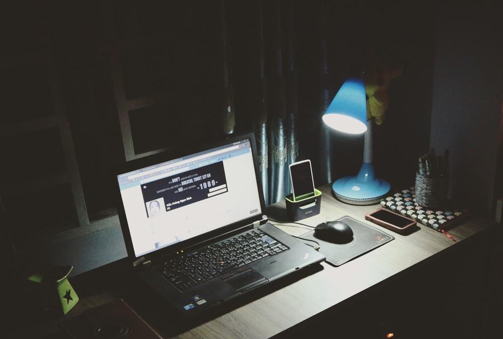 schlechte Beleuchtung im Büro