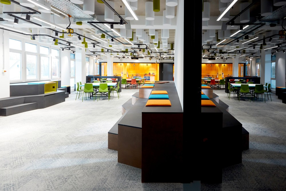 Ausreichend Raum für Kreativität: Lounge-Bereiche und Präsentationsflächen. Abbildung: BSH Hausgeräte GmbH