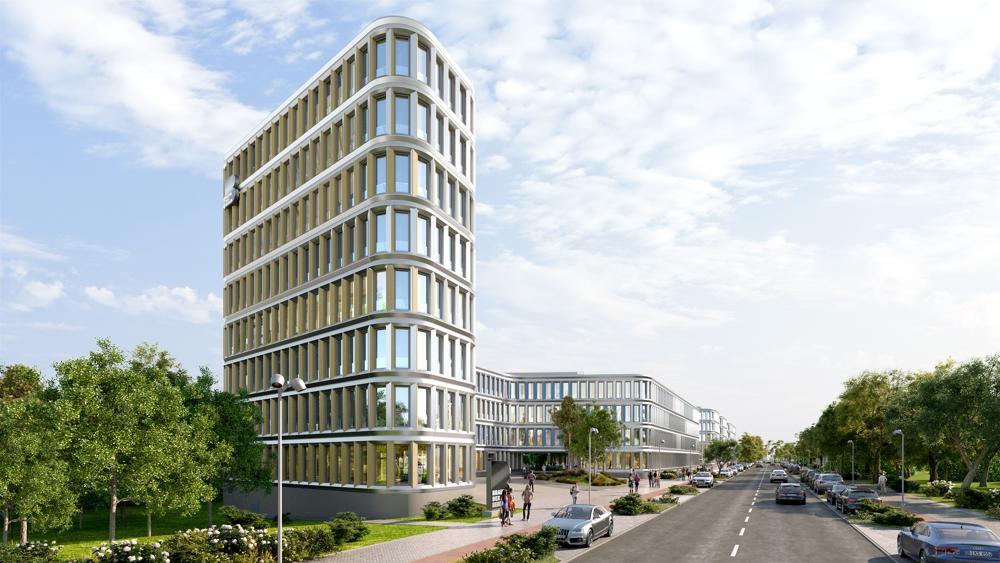 So soll die BRAIN BOX BERLIN nach ihrer Fertigstellung aussehen. Abbildung: Profi Partner AG