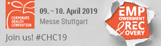 Corporate Health Convention, 09.-10. April 2019, Messe Stuttgart
