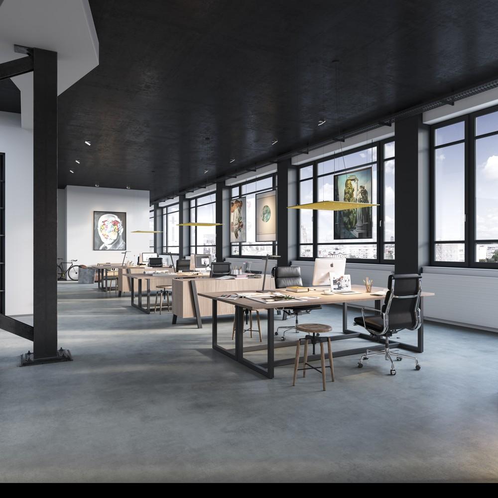 Das schwebende Lighting Pad hat die höchste Absorptionsklasse A. Es ist ideal für kommunikative Räume.