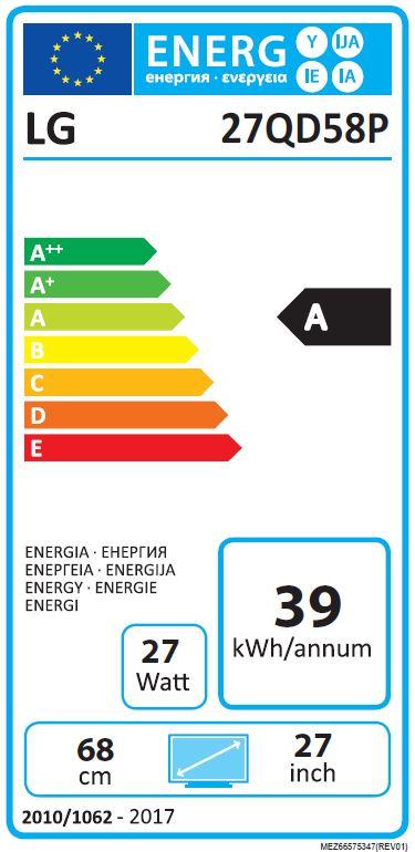 Das Energielabel vermittelt Vergleichswerte für Endverbraucher (hier LG).