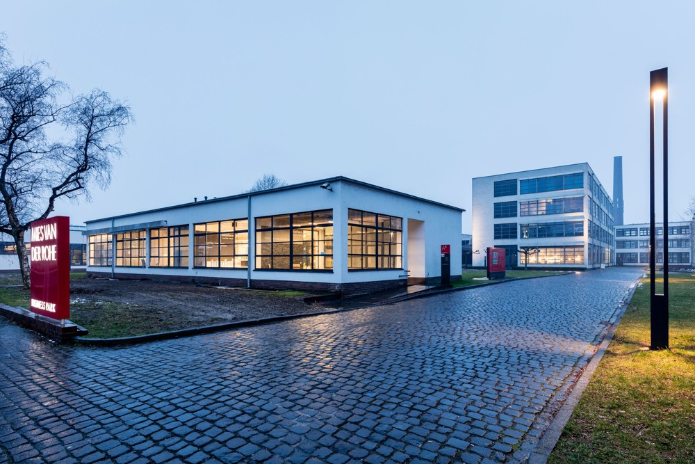 Der Mies van der Rohe Business Park in Krefeld – seit 2016 Firmensitz von Interface.  Abbildung: Interface