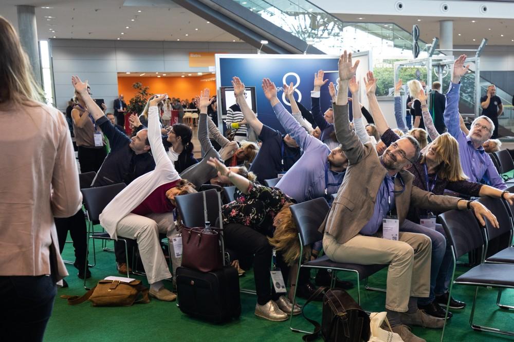 Zahlreiche Vorträge laden auch zu aktiver Beteiligung ein. Abbildung: spring Messe Management