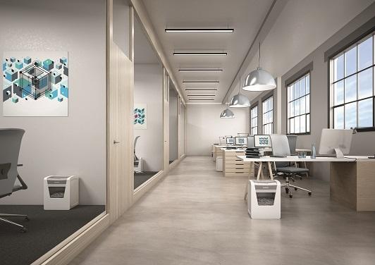 """Unter dem Motto """"Papierkorb 2.0"""" präsentiert LEITZ die neue LEITZ IQ Aktenvernichter-Serie. Abbildung: LEITZ ACCO Brands"""