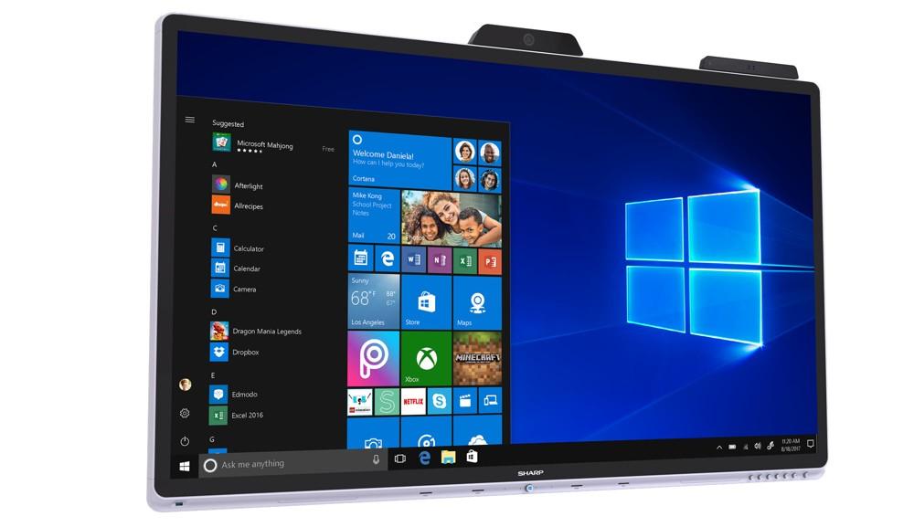 Windows Collaboration Display (WCD) von Sharp.