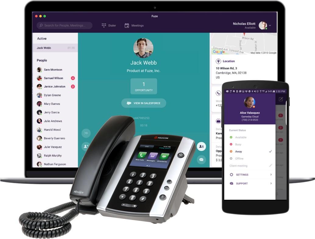 UCaaS – Unified-Communication-as-a-Service-Lösung: Unternehmen beziehen Kommunikations- und Collaboration-Anwendungen als Service von einem Drittanbieter über das Internet. Abbildung: Fuze