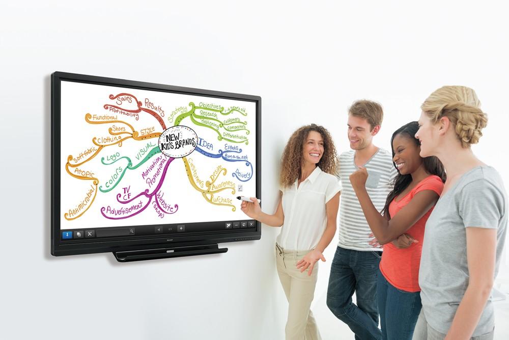 Die digitale Transformation fördert die Vernetzung zwischen Teams, Abteilungen und Standorten. Abbildung: Sharp