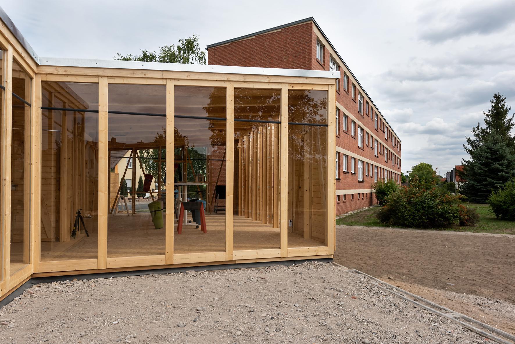 Kreativ mit Ausblick – das Hilberseimer-Haus in Dessau. Abbildung: Christoph Petras