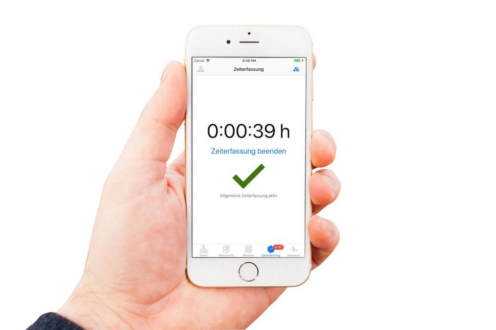 Zeiterfassung Smartphone