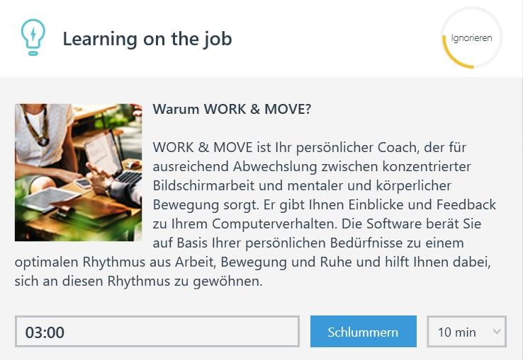 WORK & MOVE meldet sich als Personal Trainer.