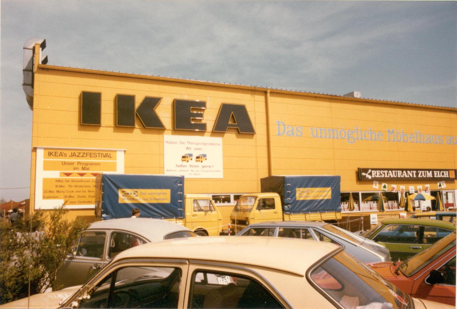 """Als """"unmögliches Möbelhaus"""" startete Ikea am 14. Oktober 1974 in Deutschland. Bald könnte es auch das Mieten möglich machen. Abbildung: Ikea Deutschland/privat"""