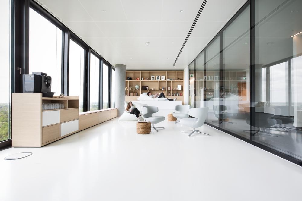 Der Wohlfühlfaktor im neuen Gebäude ist hoch. Abbildung: L'Oréal