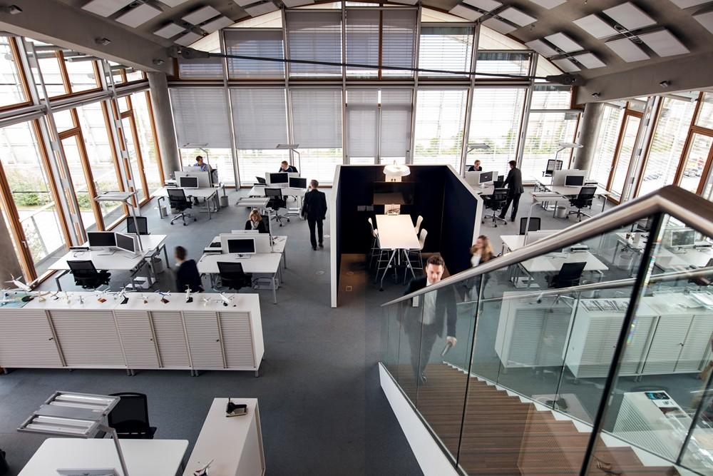 Im Headquarter der Deutsche Lufthansa AG wird Desk-Sharing praktiziert. Abbildung: Deutsche Lufthansa AG