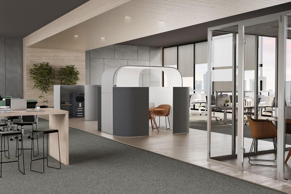 Discreto passt perfekt in jede Bürostruktur und kann schnell und einfach modular umgestaltet werden.