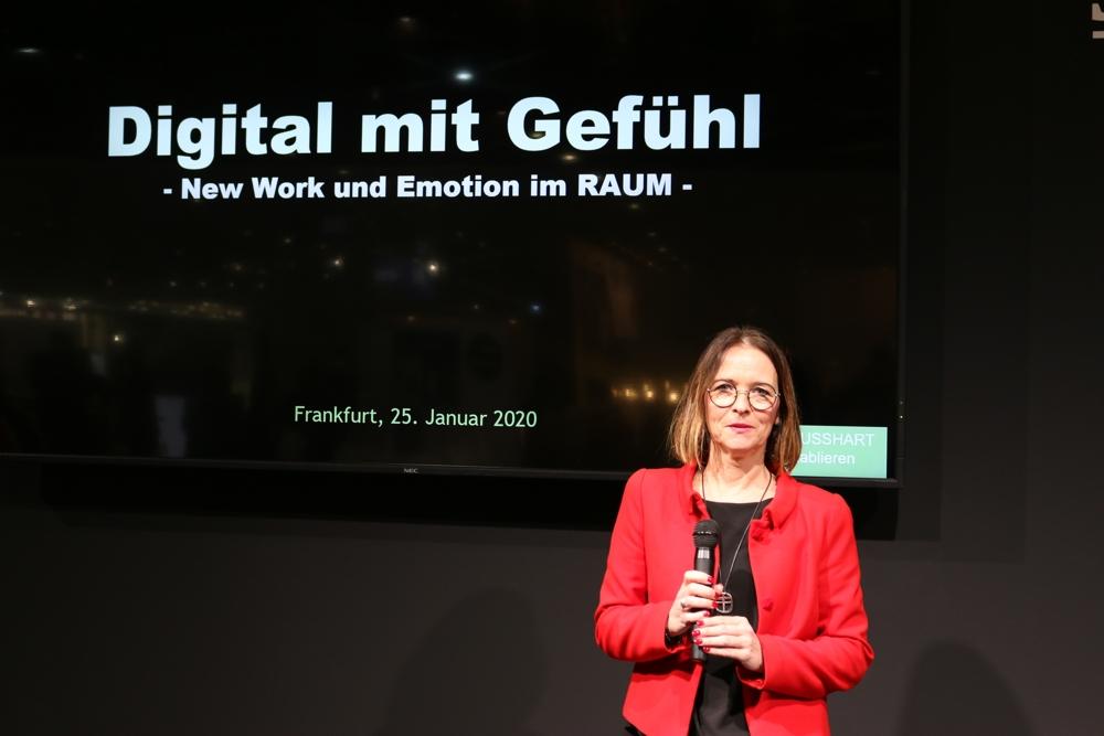 Susanne Busshart sprach über New Work im Spannungsfeld von Digitalisierung und Emotionen.