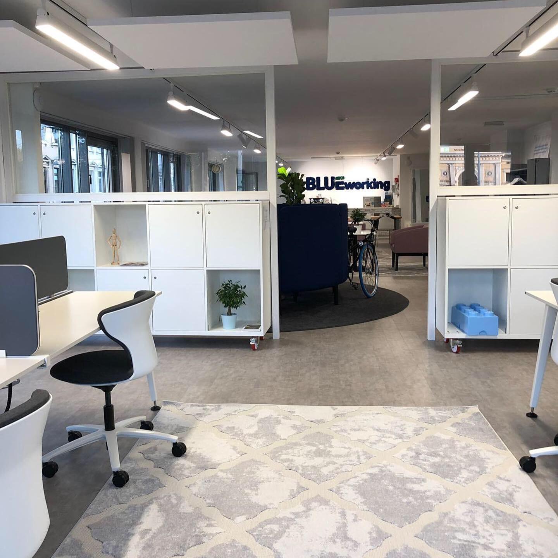 Die Fix-Desk-Area. Abbildung: BLUEWorking