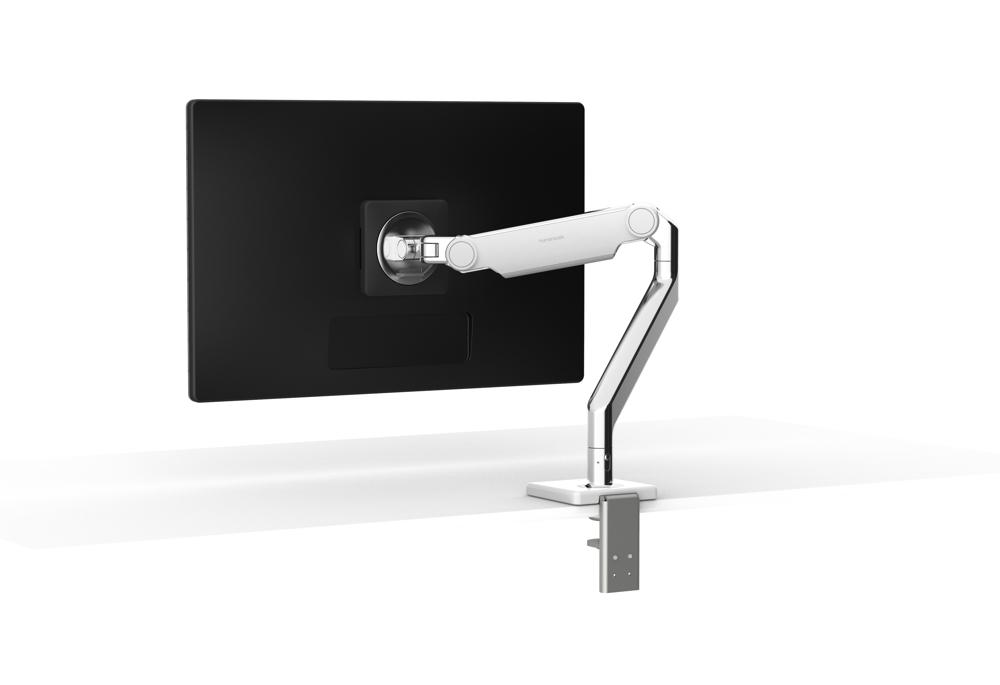 Der Monitorarm M2.1 bewegt Bildschirme auf die gewünschte Höhe und den besten Sichtabstand. Abbildung: Humanscale