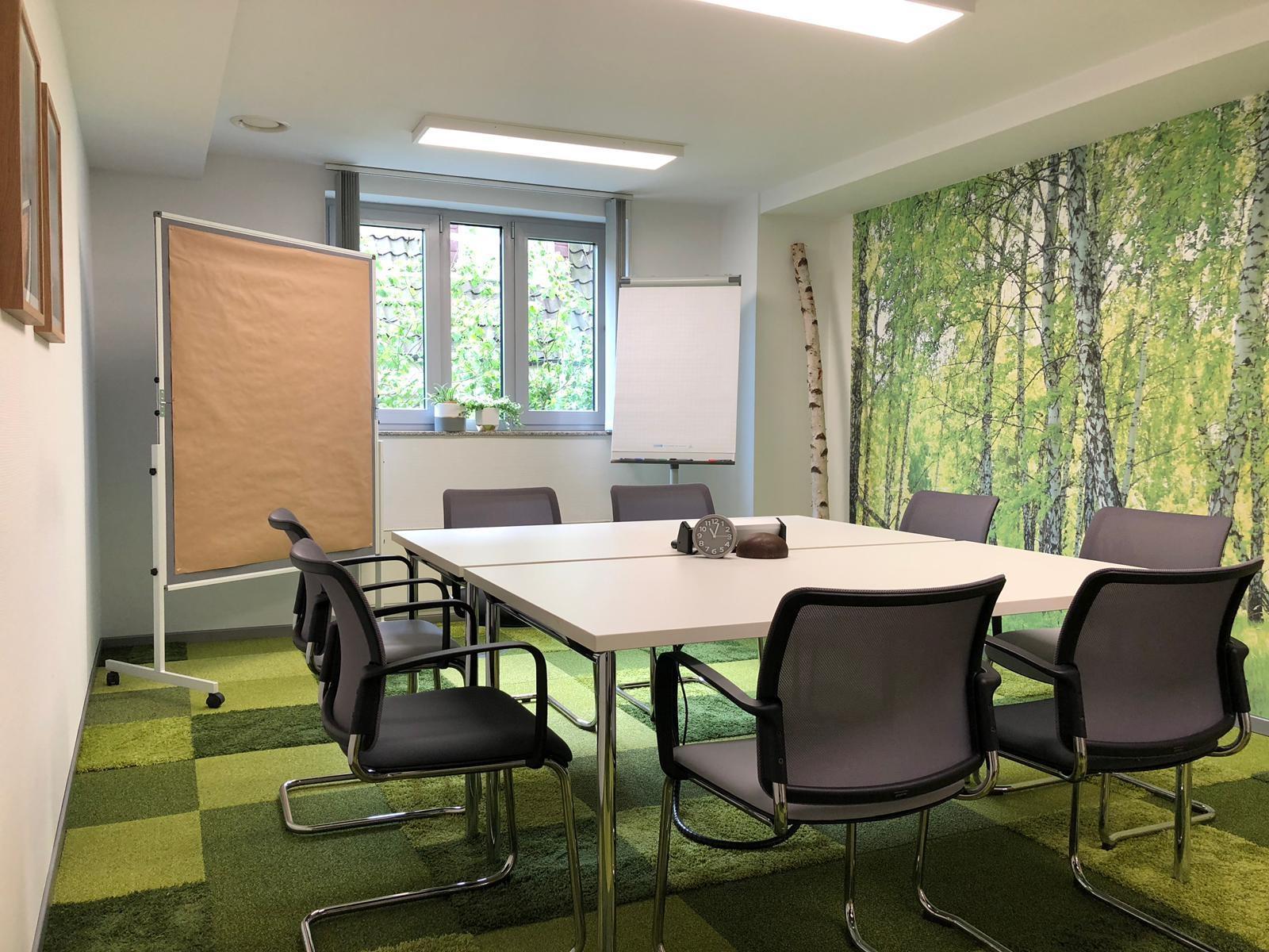 """Im Raum """"Wanderlust"""" auf grüne Ideen und mehr kommen. Abbildung: BLUEWorking"""