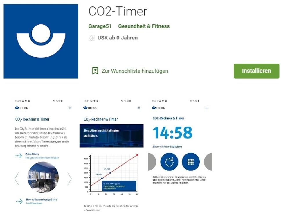 CO2-Timer von IFA und UKH.