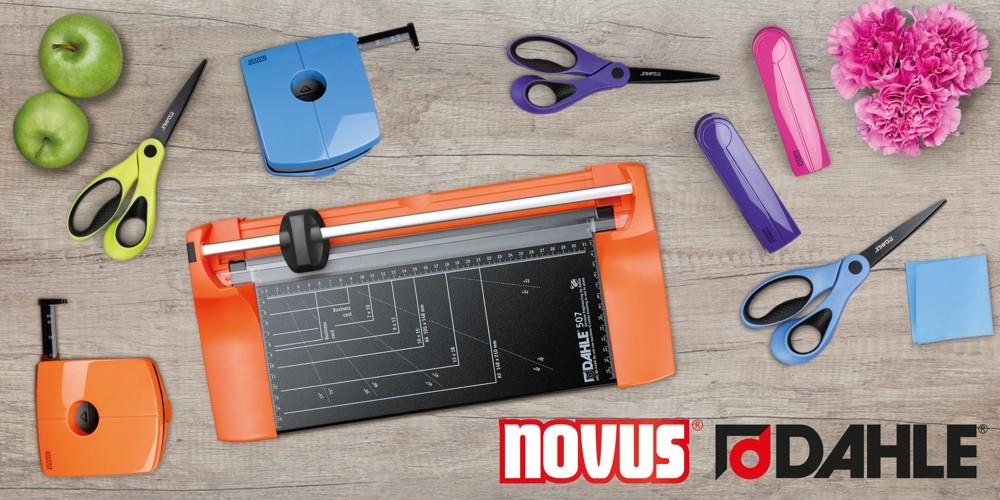 Novus Dahle erleichtert die Arbeit und setzt Trends in den Bereichen Bürobedarf, Bürotechnik und Büroeinrichtung.