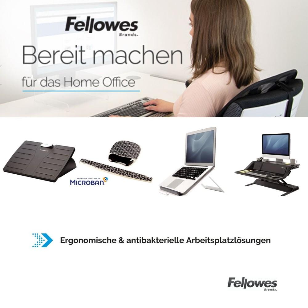 Ergonomische Lösungen für das Home-Office von Fellowes. Abbildung: Fellowes