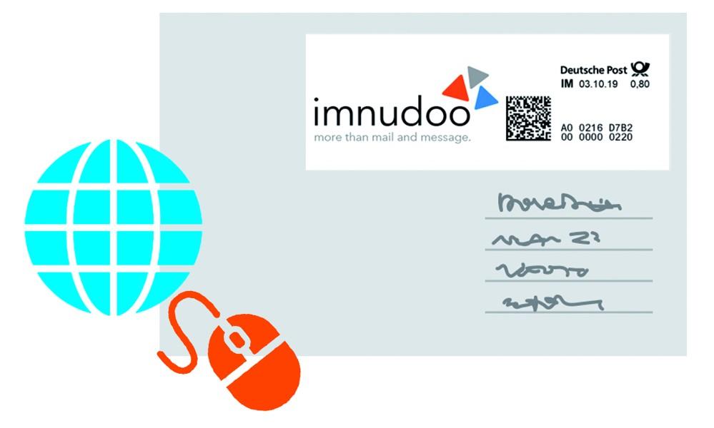 Dank imnudoo lassen sich mit zwei Klicks Online-Briefmarken erstellen.
