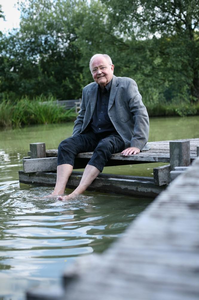 BRITA-Gründer Heinz Hankammer in seinem Element. Abbildung: BRITA Vivreau