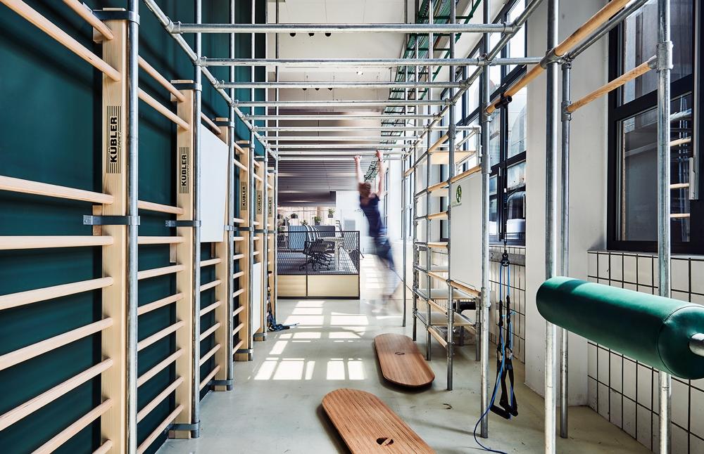 Ein attraktiver Raum für gesunde und fitte Mitarbeiter. Abbildung: Blocher Partners/Joachim Grothus