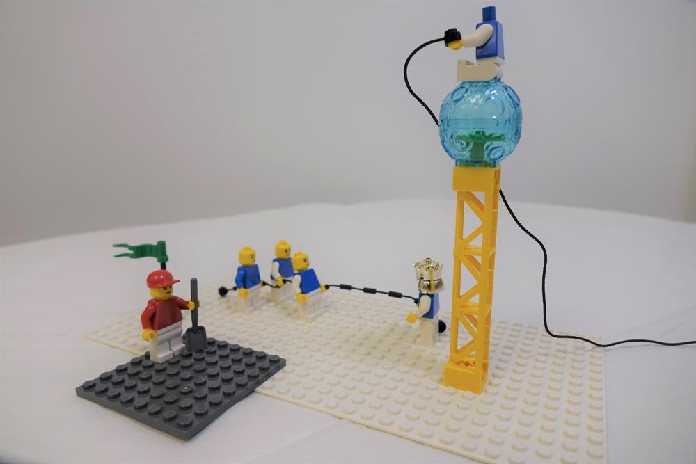 Wer wird denn gleich den Kopf verlieren? Eine mit Lego Serious Play dargestellte Teamsituation. Abbildungen: Noveldo