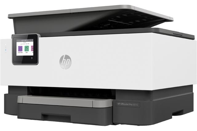 … ein Multifunktionsgerät von HP (OfficeJet Pro 9010 All-in-One) sowie …
