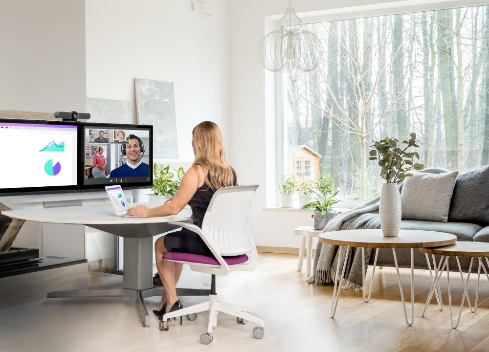 Logitech MeetUp ist auch perfekt geeignet für die Arbeit im Home-Office. Abbildung: Logitech