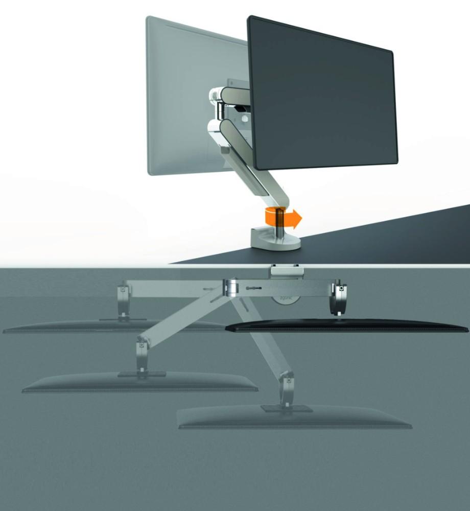 Dank dem 180°-Lock-Feature bewahren Sie den Bildschirm vor einer Kollision mit der Rückwand. Abbildung: Bachmann