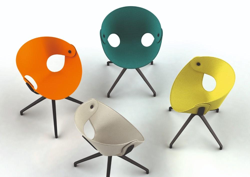 Der Fl@t Chair für Tonon. Abbildung: Design Ballendat