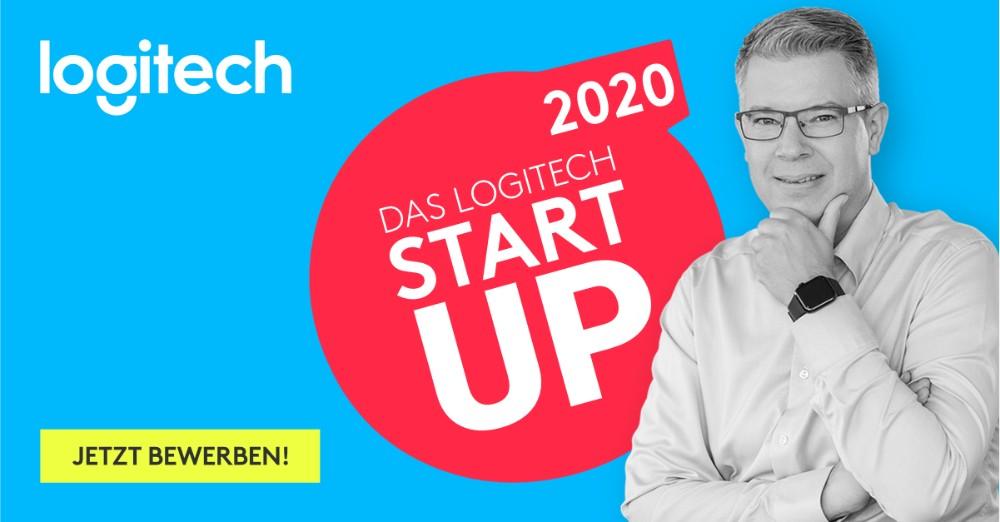 """Aller guten Dinge sind Drei: Frank Thelen und Logitech suchen den """"Startup Partner 2020"""". Abbildung: Logitech"""