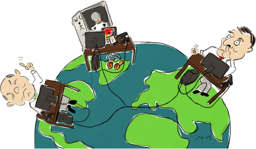Alles Globalisierung, oder was? Die weltweiten Verflechtungen nehmen in vielen Bereichen zu. Doch zu welchem Preis? Abbildung: Titania Kommunikation