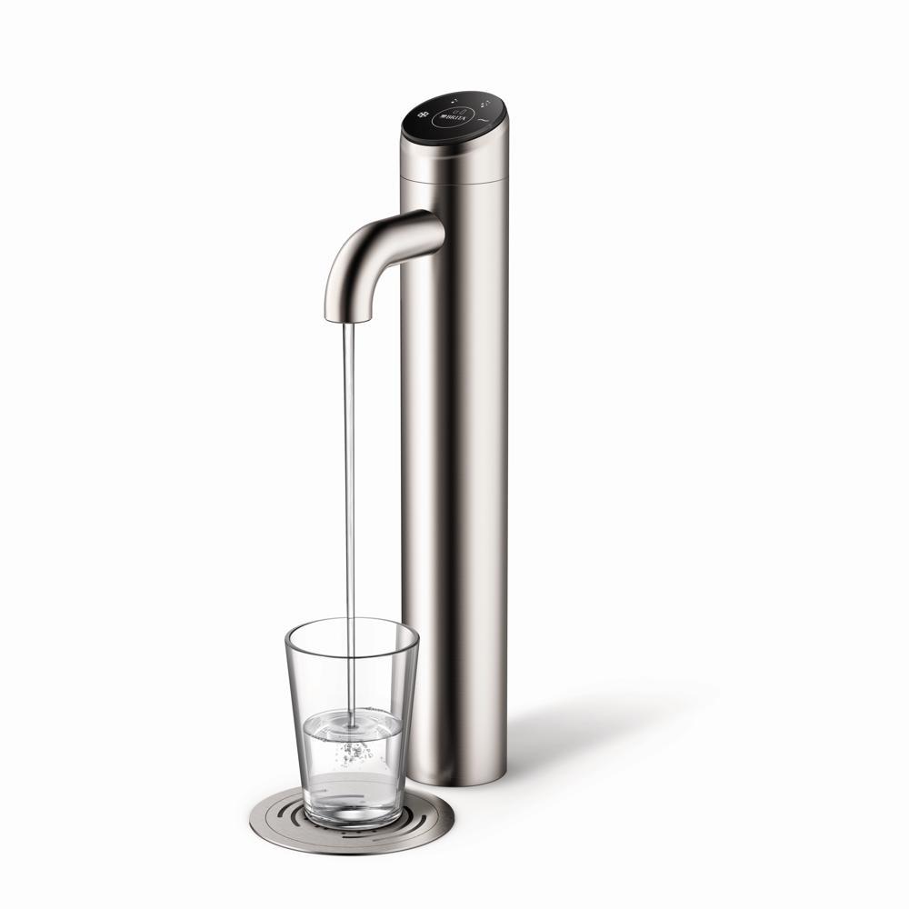 Der Brita-Vivreau-Wasserspender Extra passt perfekt in jede Umgebung. Sichtbar ist nur der elegante Hahn, alles andere wird im Unterschrank verbaut. Abbildung: Brita