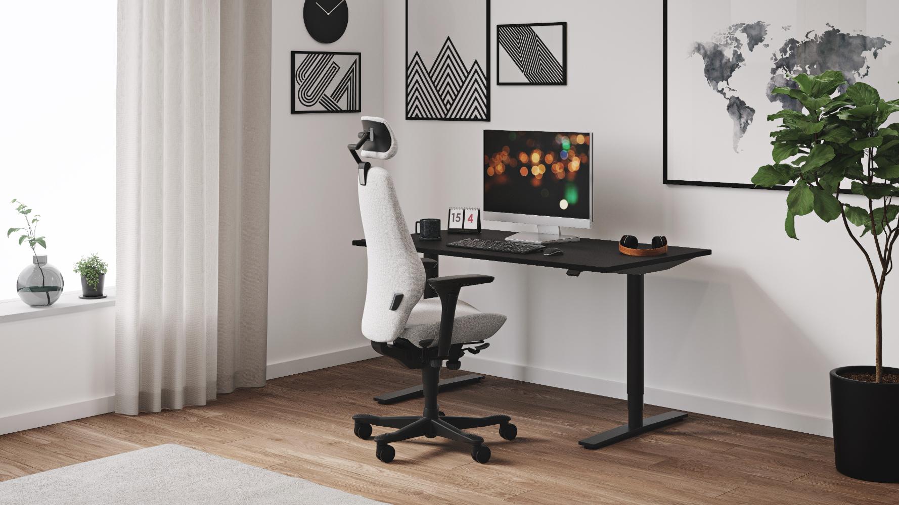 Unsere schwedischen Büromöbel sorgen dafür, dass Remote Working auch langfristig Erfolg hat. Abbildung: Kinnarps