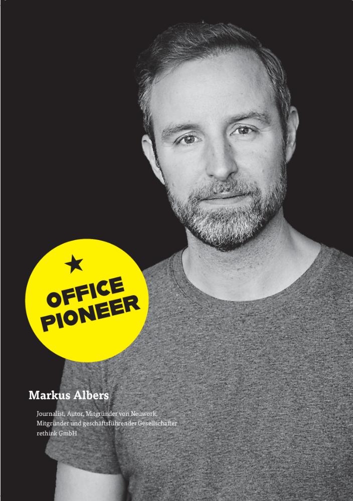 Markus Albers Journalist, Autor, Mitgründer Neuwork, Mitgründer und geschäftsführender Gesellschafter rethink GmbH