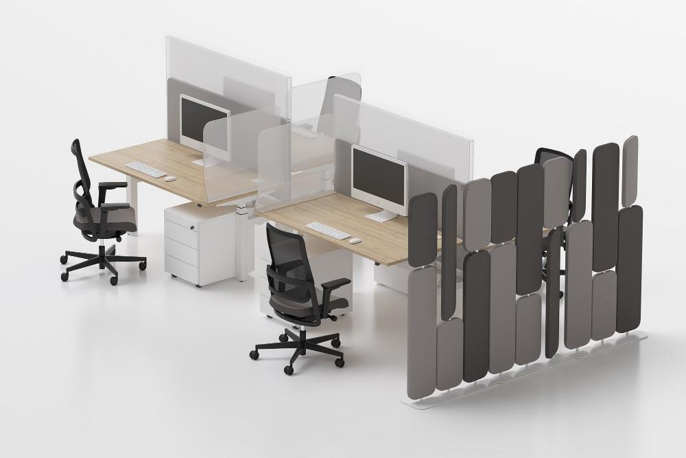 Die Safety Solutions ermöglichen eine gesunde und sichere Büroarbeit. Abbildung: Noxy Styl