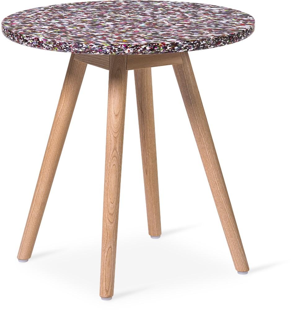 Erzählt die Geschichte seiner Herkunft: der neue Tisch Tinnef von Skandiform. Abbildung: Kinnarps