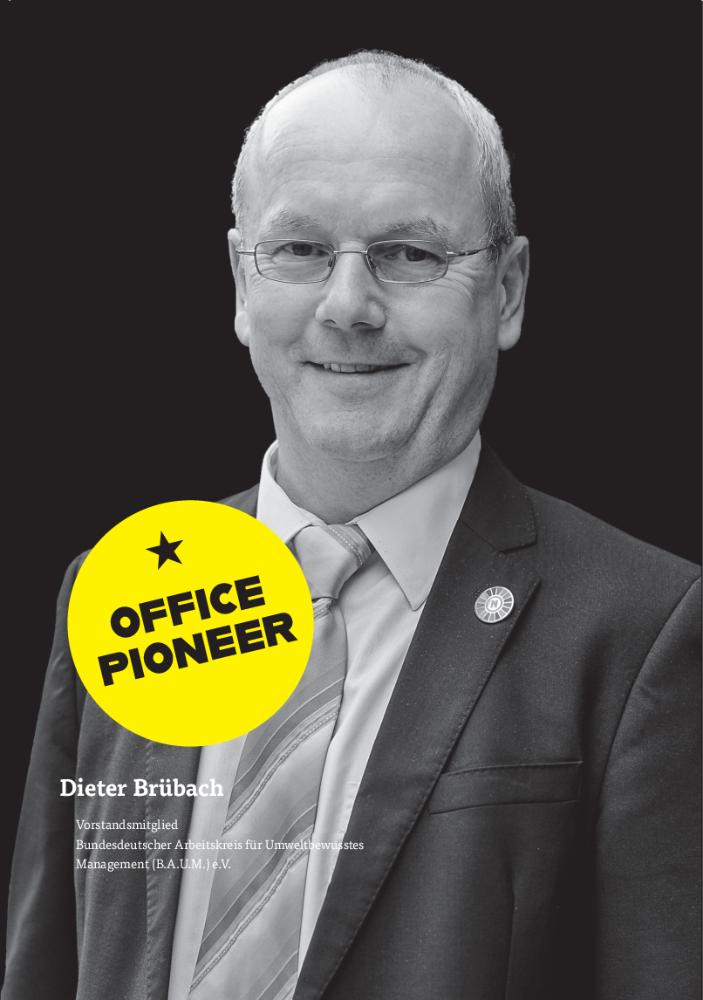 Dieter Brübach, Vorstandsmitglied Bundesdeutscher Arbeitskreis für Umweltbewusstes Management (B.A.U.M.) e. V. Abbildung: Simon Veith – nachhaltige Fotografie
